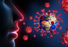 Corona Viren vor Nase und Mund – Wuhan Virus