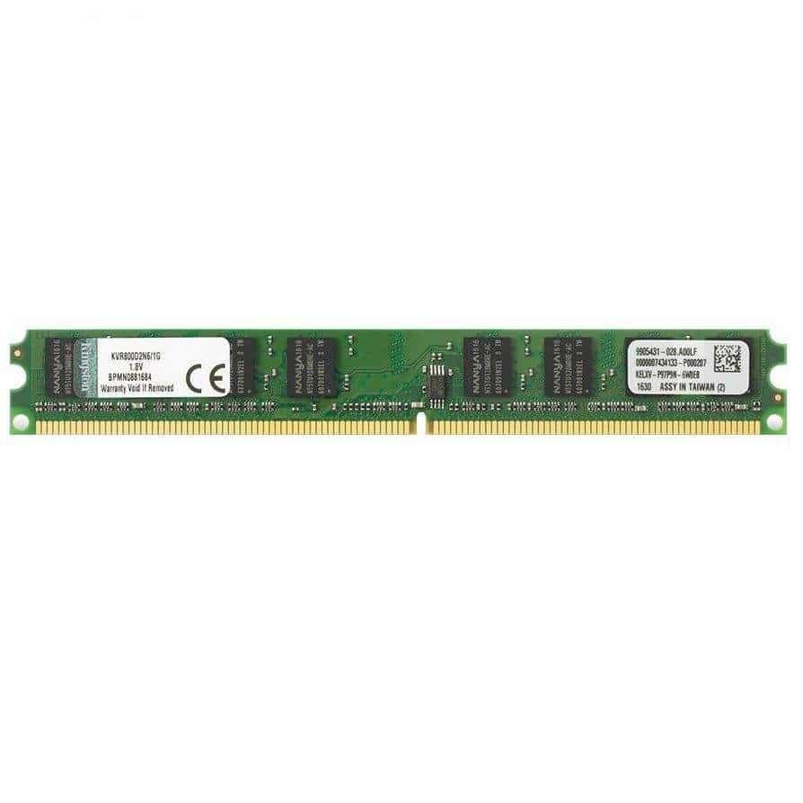 رم دسکتاپ DDR2 تک کاناله 800مگاهرتز CL6 کینگستون مدل slim ظرفیت 2 گیگابایت
