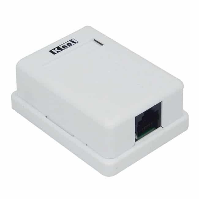 پریز کابل شبکه روکار Knet Cat5E UTP 2 Port